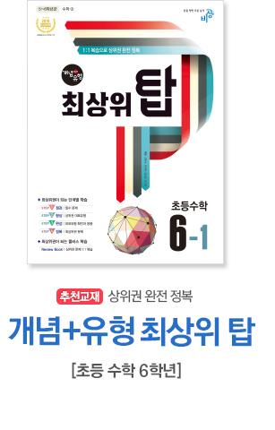 개념플러스유형 초등수학 최상위 탑 6-1