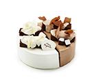 초코반 딸기반 케이크